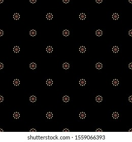Seamless geometrical pattern with small daisy flowers. Simple floral polka dot.