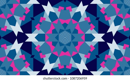 Seamless geometrical pattern, vector mosaic design, endless abstract background