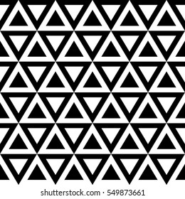 Seamless geometry pattern in black and white