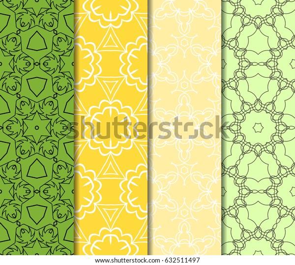 seamless geometry pattern set. vector illustration. texture for design wallpaper, pattern fills, fabric