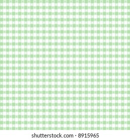 SEAMLESS Gingham Check, background pattern in pastel green and white for sewing, DIY decorating, arts and crafts. EPS8 file includes pattern swatch that seamlessly fills any shape.