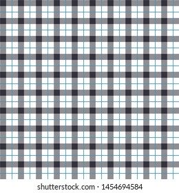 Seamless Gingham Dark Blue Pattern. Texture for plaid, tablecloths, clothes, shirts, dresses, paper, bedding, blankets, quilts and other textile products. Vector illustration EPS 10
