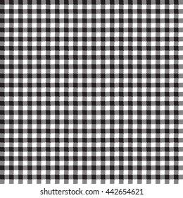 Seamless Gingham Pattern in Black
