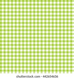 Seamless Gingham Pattern in Lime Green