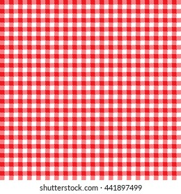 Seamless Gingham Pattern in Red