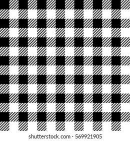 Seamless Gingham Tablecloth Tartan Plaid