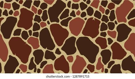 Seamless Giraffe Fur Pattern
