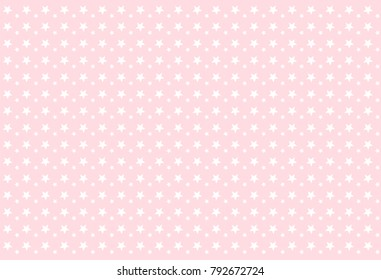 seamless girlish pattern white stars on pink background backdrop for invitation card wrapper