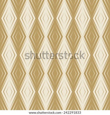 Seamless Gold Colored Diamond Wallpaper Pattern In Art Deco Style