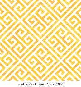 Seamless Gold Greek Key Background Pattern