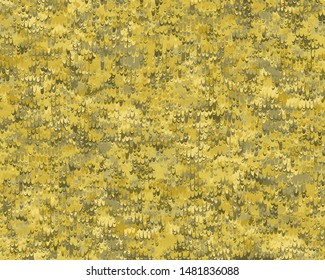 Seamless gold marbling pattern vector. Traditional Turkish Ebru technique