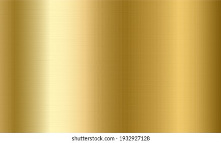 Seamless gold metal texture. Golden gradient background, textured metallic template. Steel sufrace pattern. Realistic vector illustration