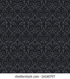 Seamless Gothic Damask Background