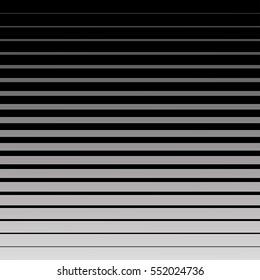 Seamless gradient halftone background. Black lines pattern.