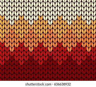 Seamless gradient knitting pattern