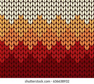 Seamless gradient knitting pattern