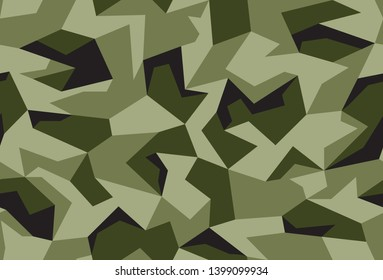 Seamless graphical vector camouflage pattern