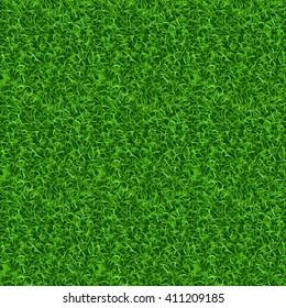 Seamless grass vector texture. Green grass, meadow grass pattern, field grass seamless texture illustration