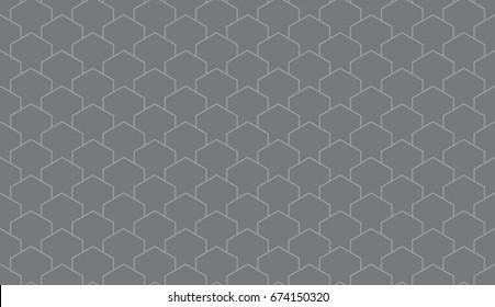 Seamless gray isometric pillars outline pattern vector