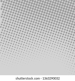 Seamless Gray Tiny Circle Getting Smaller it Fades. Halftone in Different Sized Dots of Ink that Simulates Imagination of Continuous Tone. Creative Background for Digital Image.