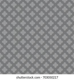 Seamless gray vintage pattern vector