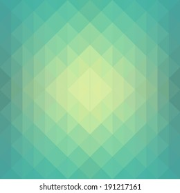 Seamless Green abstract geometrical background