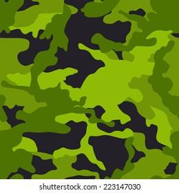 Seamless green camouflage pattern. Seamless modern camouflage pattern. Camo background pattern.