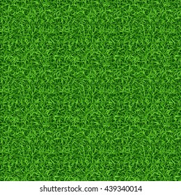 Seamless green nature lawn grass texture and pattern Vector illustration