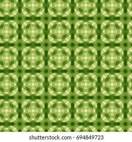 Seamless Green Pattern. Abstract Backdrop. Stylish Endless Texture. Repeating Ornament. Overlay Art. Cover, Wrapping Paper, Wide Screen Background. Screen Backdrop. Green Seamless Pattern.