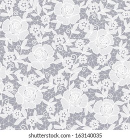 seamless grey abstract floral background