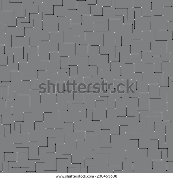 Seamless grey industrial linear vector background