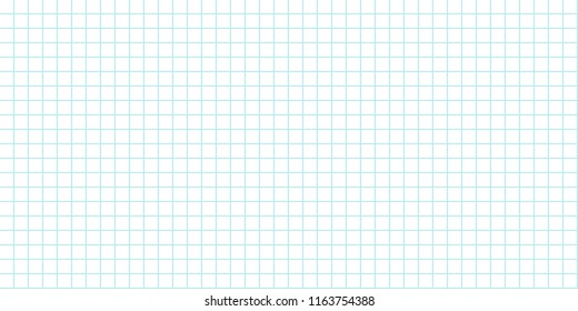 seamless grid background lined sheet of paper for print or design for back to school holiday, vector illustration