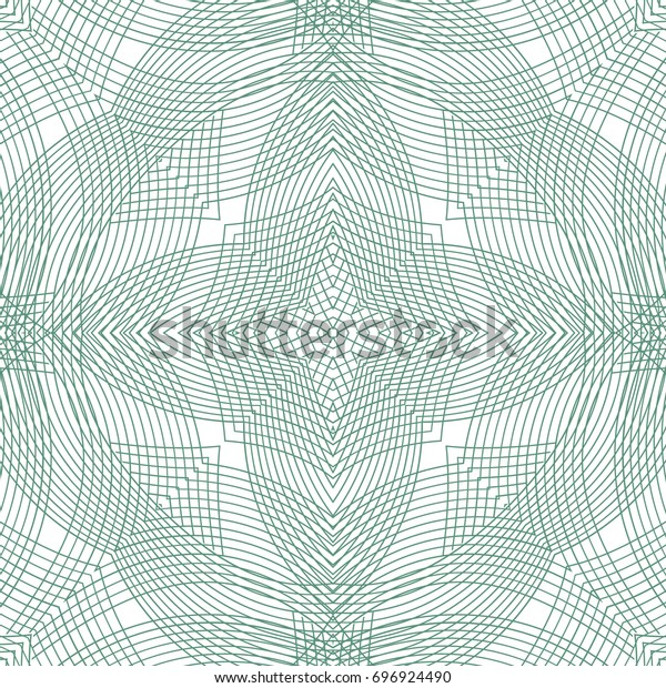 Seamless guilloche vector background. Thin wavy lines texture