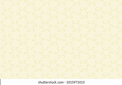 Seamless half round pattern vector. C Design yellow on cream. Design print for textile, fabric, wallpaper, background.
