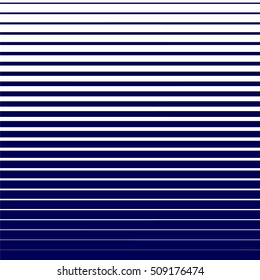 Seamless halftone effect pattern. Blue lines on white background. Halftone effect vector illustration. Geometric seamless pattern. Simple regular background. Seamless striped pattern.