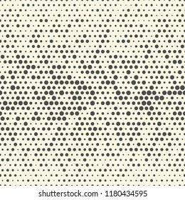 Seamless Halftone Wallpaper. Decorative Gradient Pattern. Abstract Dots Graphic Design