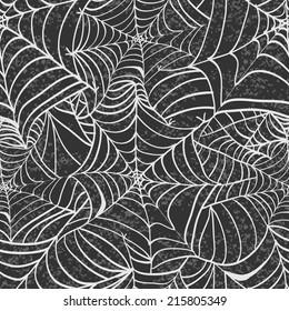 Seamless  halloween background. Seamless pattern. Halloween invitation.Happy Halloween Poster. Vector illustration with spider web