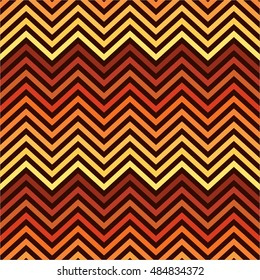 Seamless Halloween color zigzag chevron pattern background / Halloween seamless pattern background with waves.