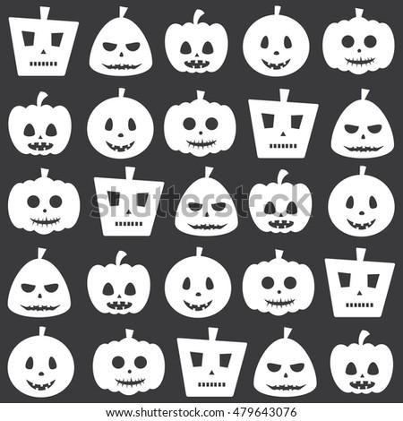 seamless halloween decorative scary pumpkin pattern stock vector