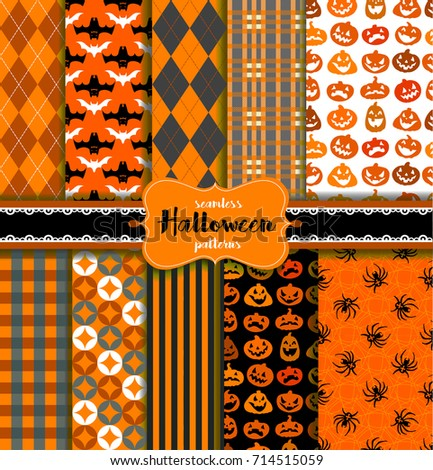seamless halloween patterns for any holiday design