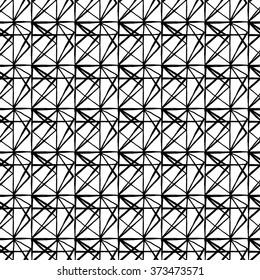Seamless hand drawn black and white pattern