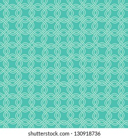 Seamless hand drawn green chain pattern. Vector illustration
