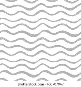Seamless hand drawn wavy pattern