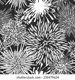 Seamless hand-drawn flower pattern-model for design of gift packs, patterns fabric, wallpaper, web sites, etc.