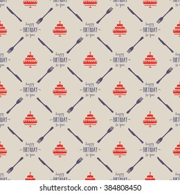 seamless happy birthday dining pattern