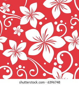 Seamless Hawaiian Christmas Pattern