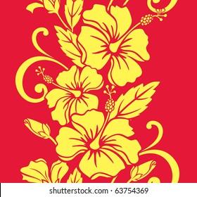 Seamless Hawaiian Royale Border/Pattern