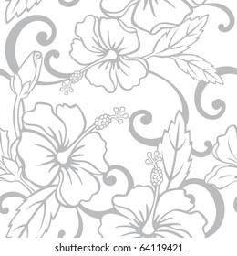 Seamless Hawaiian Wedding Pattern