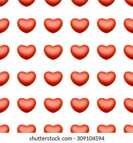 Seamless heart love background