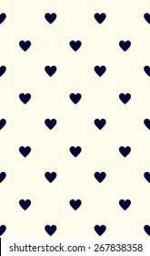 Seamless heart pattern love.  Vector illustration repeating texture.